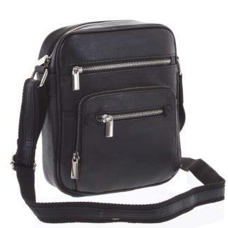 Módní pánská crossbody kožená taška na doklady černá - WILD Andric černá