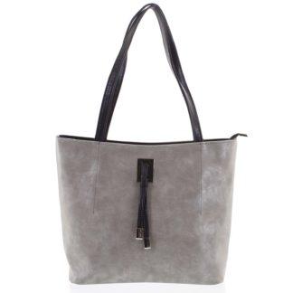 Velká béžová vzorovaná dámská kabelka přes rameno - Ellis Huyen béžová