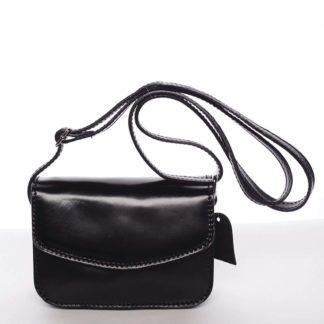 Malá kožená dámská crossbody kabelka černá - ItalY Paulina černá