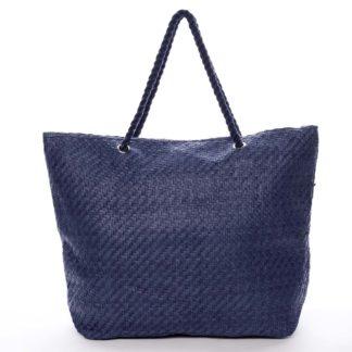 Luxusní plážová taška modrá - Delami Straw modrá