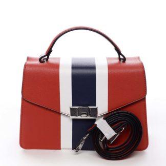 Exkluzivní menší dámská kabelka do ruky červená - David Jones Shabana červená