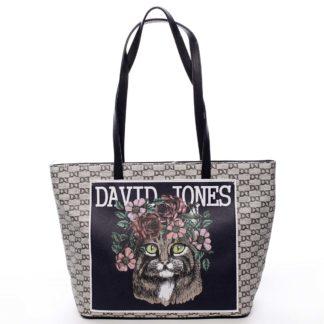 Černá trendy prostorná dámská kabelka přes rameno - David Jones Sadaf černá