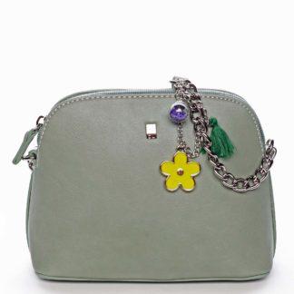 Malá elegantní crossbody kabelka bledě zelená - David Jones Trina zelená