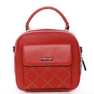 Luxusní malá dámská kabelka do ruky červená - David Jones Stela červená