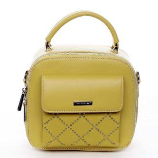 Luxusní malá dámská kabelka do ruky žlutá - David Jones Stela žlutá