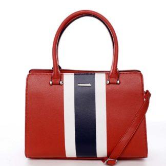 Exkluzivní dámská kabelka do ruky červená - David Jones Shabanax červená