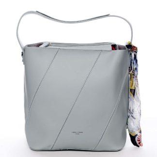 Elegantní dámská kabelka přes rameno mentolová - David Jones Abena  mentolová