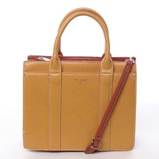 Malá dámská kabelka do ruky žlutá - David Jones Akiba  žlutá