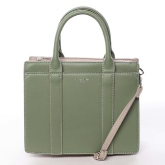 Malá dámská kabelka do ruky zelená - David Jones Akiba  zelená