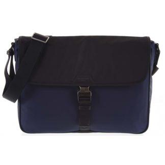 Crossbody taška na notebook modro černá - Hexagona Baccus modrá