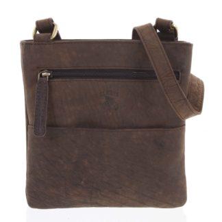 Pánská kožená taška na doklady hnědá - WILD Lukeny hnědá