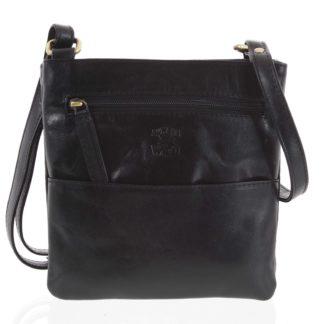 Pánská kožená taška na doklady černá - WILD Lukeny černá