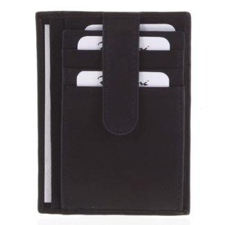 Kožená peněženka do kapsy černá - Delami 3939 černá
