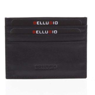 Kožené pouzdro na kreditní karty černé - Bellugio 1001 černá
