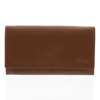 Dámská kožená peněženka světle hnědá - Delami Shelby hnědá