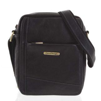 Pánská kožená taška na doklady černá - SendiDesign Eser černá