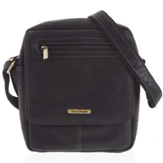 Kožená pánská taška přes rameno černá - SendiDesign Edmar černá