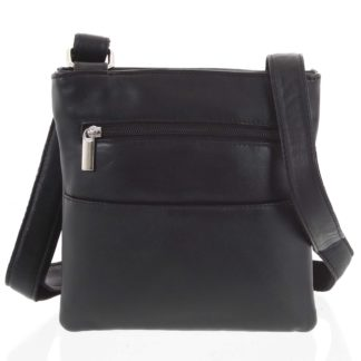 Pánská kožená taška na doklady černá - WILD Isidro černá