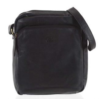 Pánská kožená crossbody taška černá - WILD Jesualdo černá