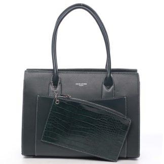Dámská kabelka přes rameno tmavě zelená - David Jones Gilsia zelená