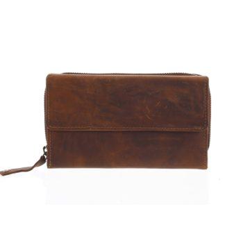 Dámská kožená peněženka hnědá - Tomas Menmaiya hnědá