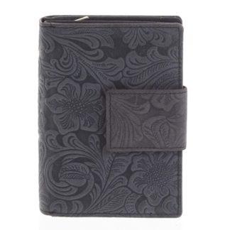 Dámská kožená peněženka antracitová - Tomas Intya černá