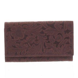 Dámská kožená peněženka bordó - Tomas Imbali vínová