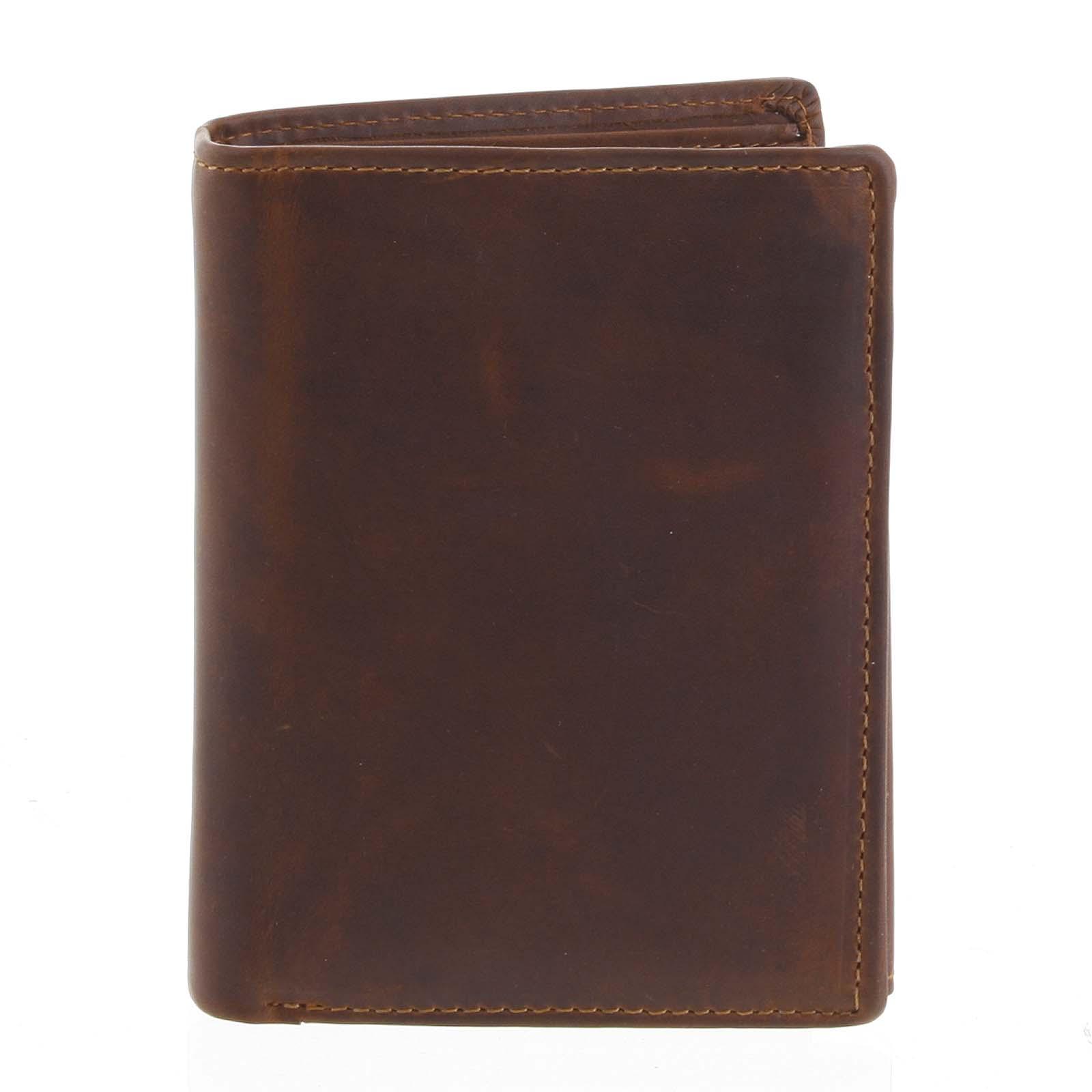 Pánská kožená peněženka hnědá - Tomas Lelezi hnědá