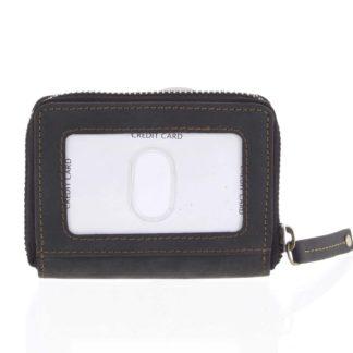 Kožená peněženka černá broušená - Tomas Omcane černá