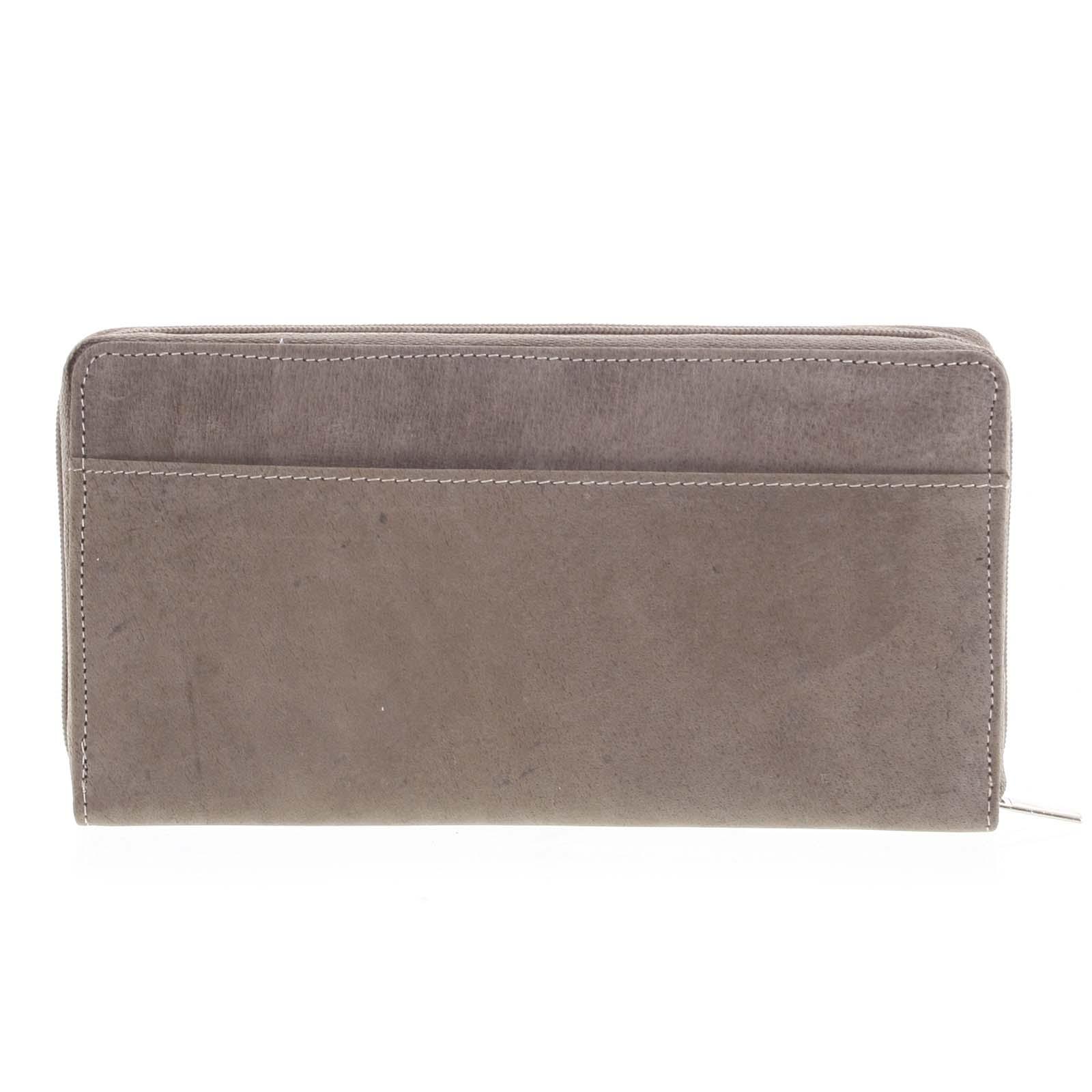 Dámská kožená peněženka taupe - Tomas Imvilophu Taupe