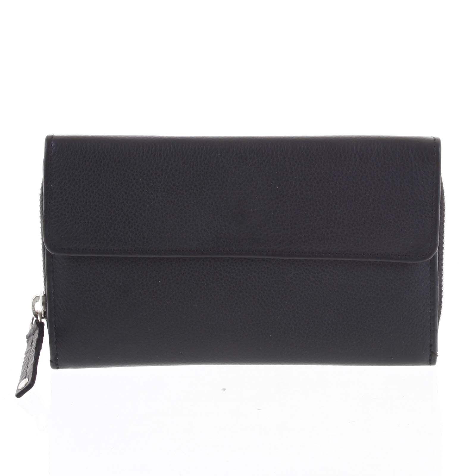 Dámská kožená peněženka černá - Tomas Menmaiya černá