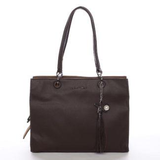 Dámská kabelka přes rameno tmavě hnědá - David Jones Annette hnědá