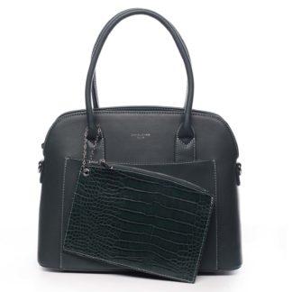 Dámská kabelka tmavě zelená - David Jones Caleed zelená