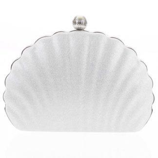 Dámské psaníčko stříbrné - Michelle Moon Seashell stříbrná