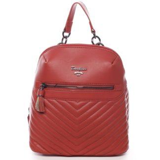 Dámský městský batoh červený - David Jones Ademar červená