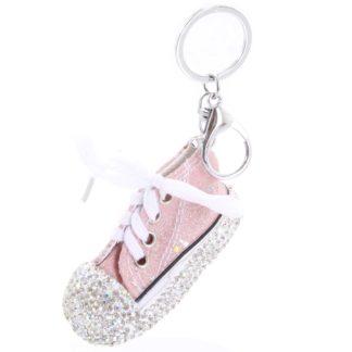 Přívěsek na kabelku růžový - teniska  růžová
