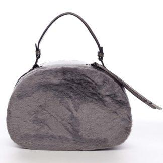Dámská kožešinová kabelka šedá - MARIA C Hasiel šedá