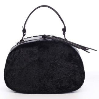 Dámská kožešinová kabelka černá - MARIA C Hasiel černá