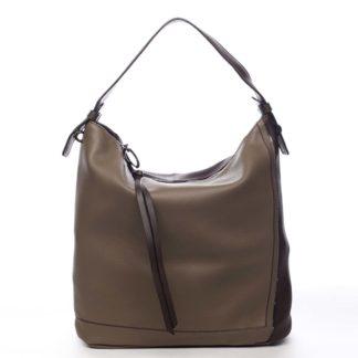 Velká dámská kabelka přes rameno taupe - Maria C Perola Taupe