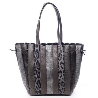 Dámská kabelka přes rameno tmavě šedá - Dudlin Tola šedá