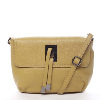 Dámská kožená crossbody kabelka žlutá - ItalY Porta žlutá