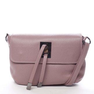 Dámská kožená crossbody kabelka růžová - ItalY Porta růžová
