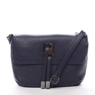 Dámská kožená crossbody kabelka tmavě modrá - ItalY Porta modrá