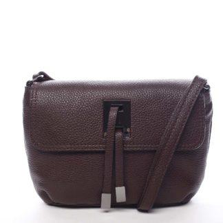 Dámská kožená crossbody kabelka tmavě fialová - ItalY Porta fialová