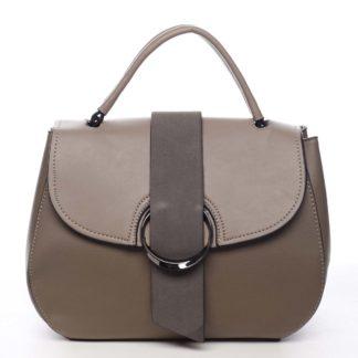 Jedinečná dámská kabelka do ruky taupe - Maria C Laurel Taupe