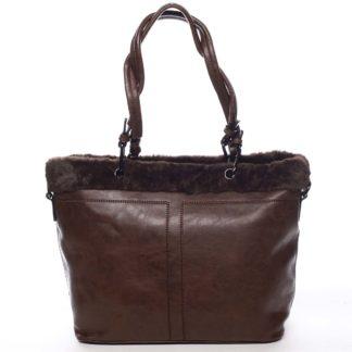 Dámská kabelka přes rameno kávově hnědá - Maria C Lyra hnědá
