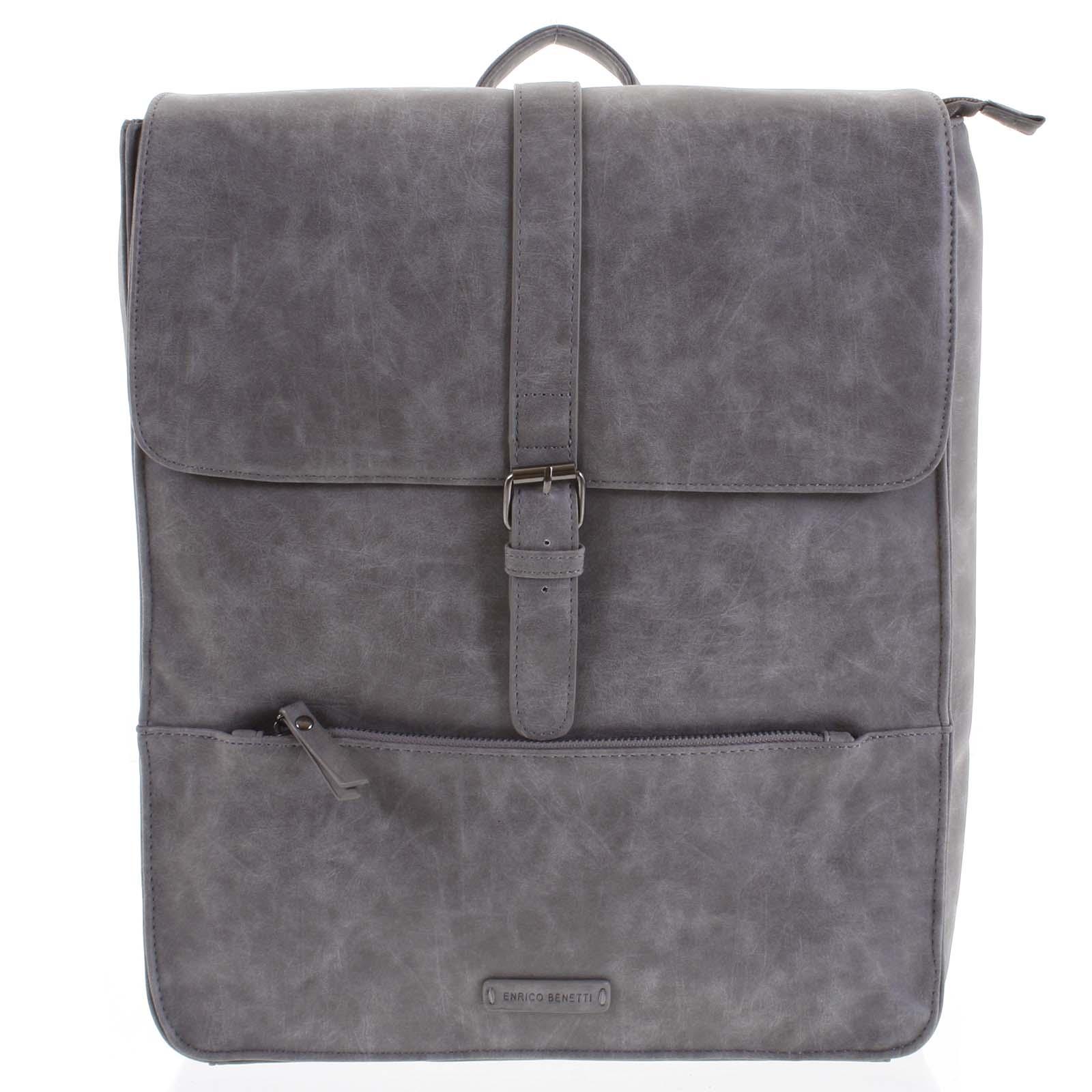 Pánský batoh šedý - Enrico Benetti Kaarlo šedá