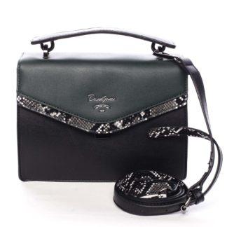 Dámská kabelka do ruky černo zelená - David Jones Scarlett zelená