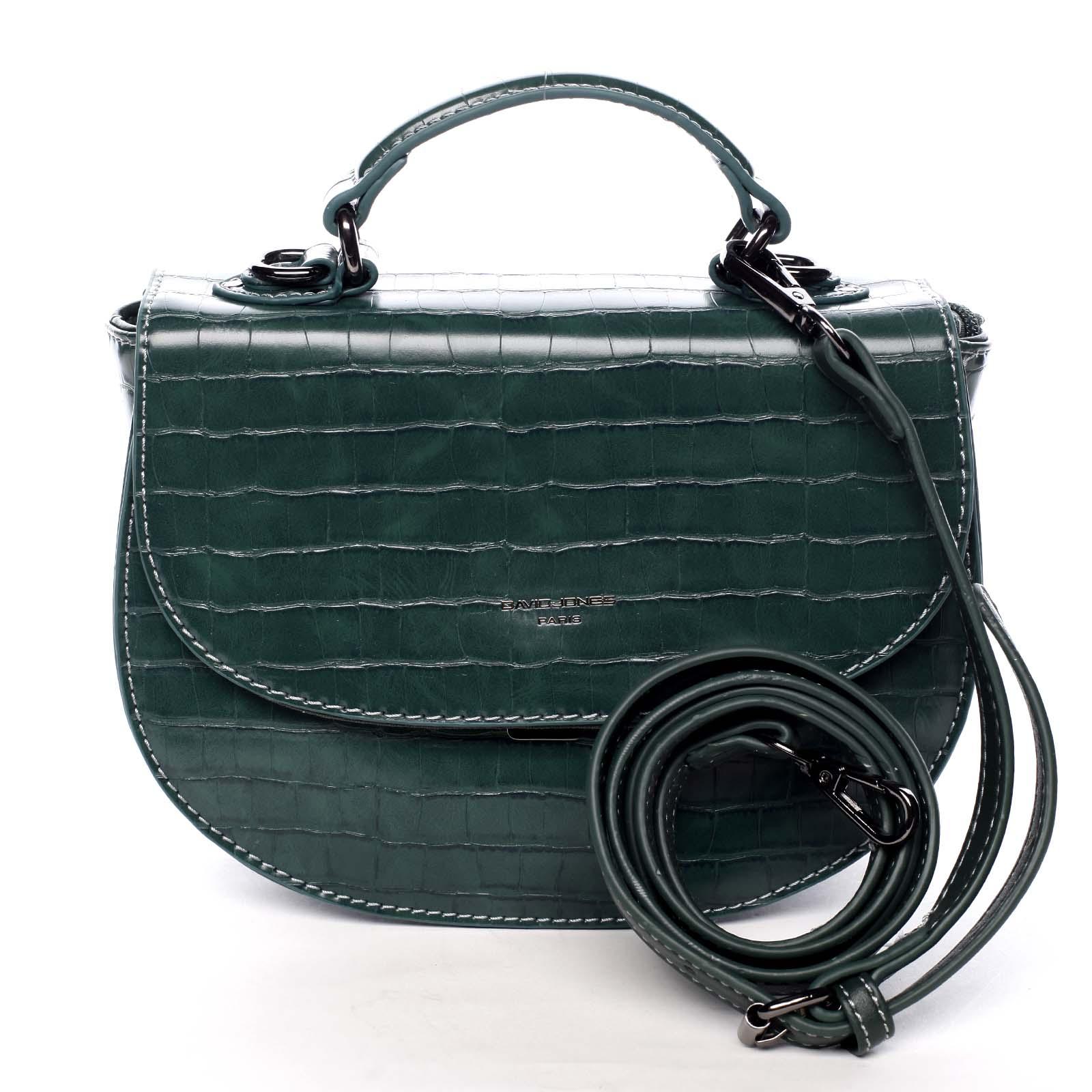 Dámská kabelka do ruky zelená - David Jones Cosette zelená