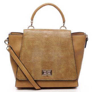 Dámská kabelka do ruky žlutá - Dudlin Mirla žlutá